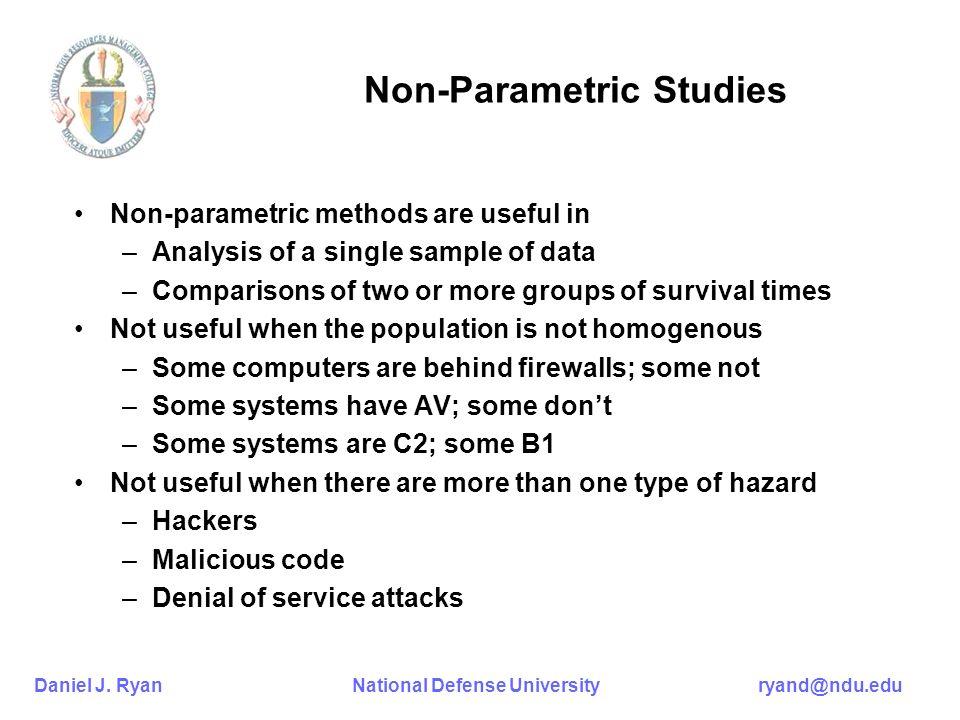 Non-Parametric Studies