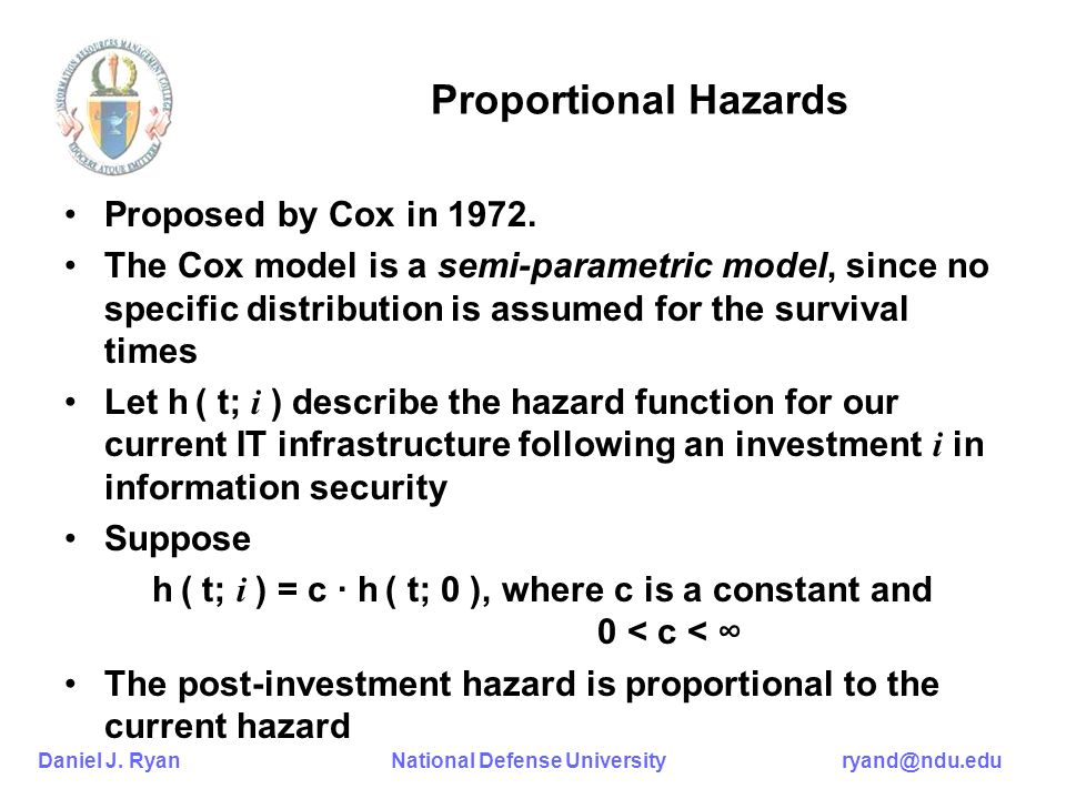 Proportional Hazards Proposed by Cox in 1972.