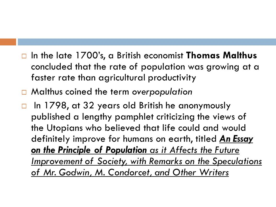 thomas malthus ppt video online in the late 1700 s a british economist thomas malthus concluded that the rate of population