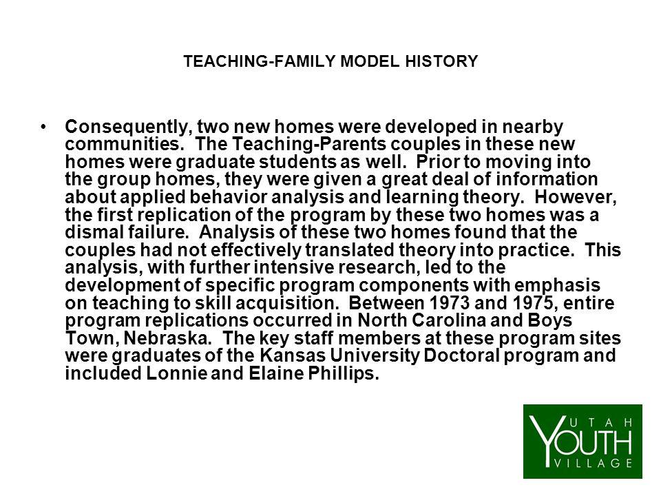 Teaching family homes model