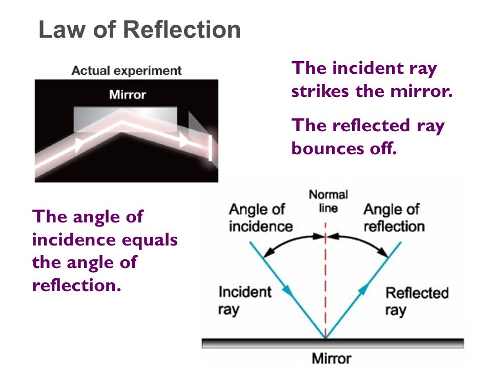 Chapter 17 Optics 17.1 Reflection and Refraction - ppt ... Angle Of Incidence Mirror