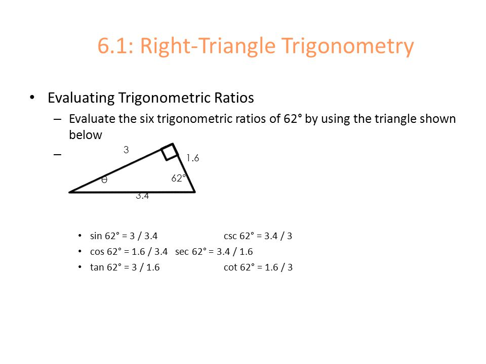 Right Triangle Trig Evaluating Ratios Kuta Software. Chapter 6 Trigonometry 1 Right Triangle Ppt Download Rh Slideplayer. Worksheet. Worksheet Trig Ratios In Right Triangles Answers At Clickcart.co