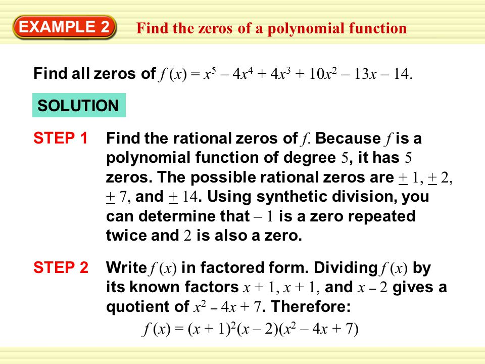 Write A Polynomial Function With Given Zeros With Square Roots
