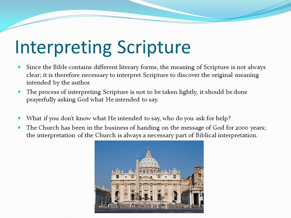 Interpreting Scripture