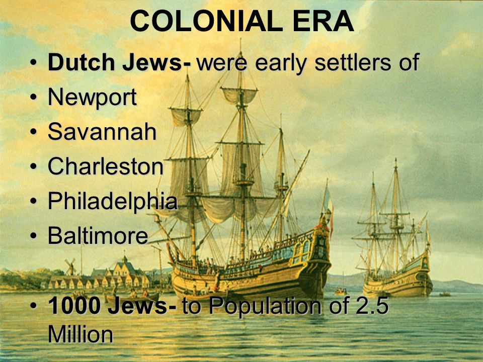 colonial period and immigration Part seven: study of primary documents the colonial period: immigration historical context: from the establishment of the first successful english colony at jamestown, virginia, in 1607, the population of the american colonies grew rapidly.