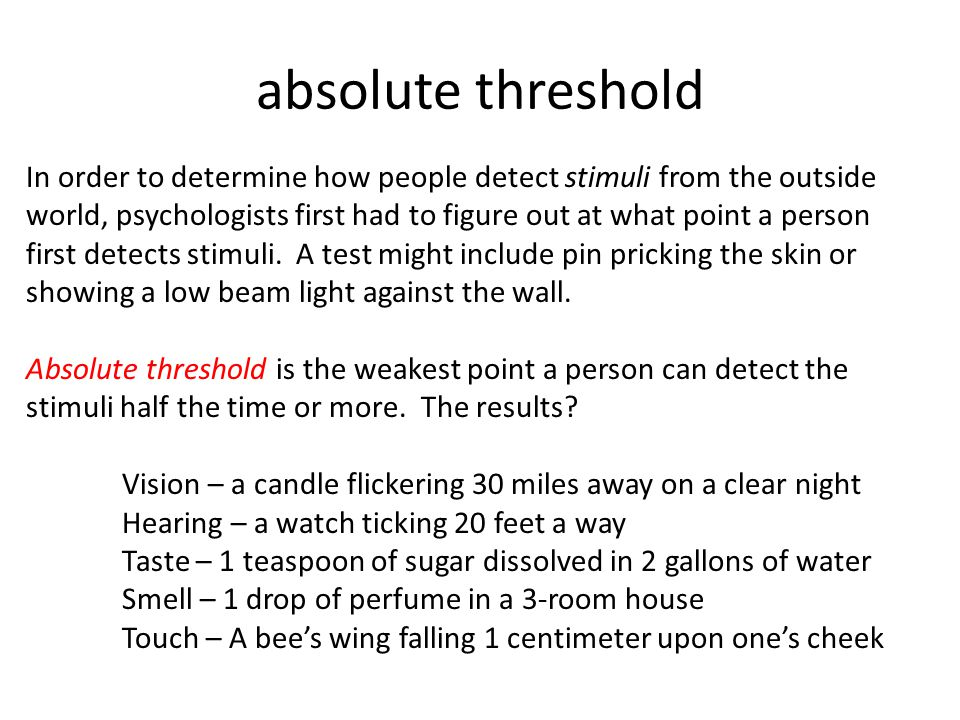 absolute and difference threshold