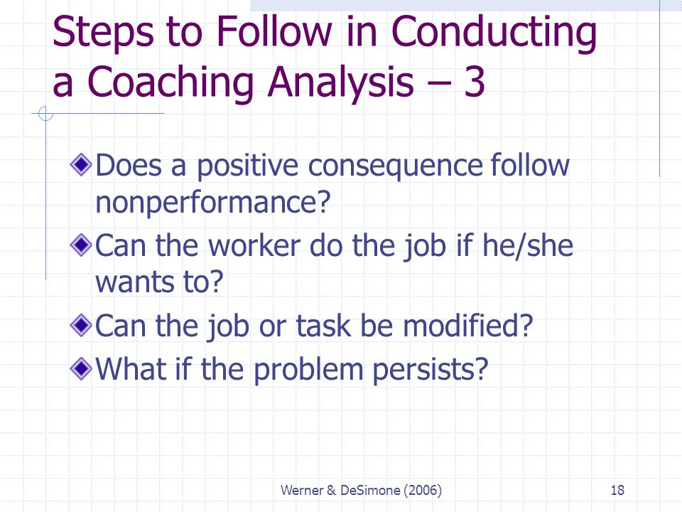 Steps to Follow in Conducting a Coaching Analysis – 3