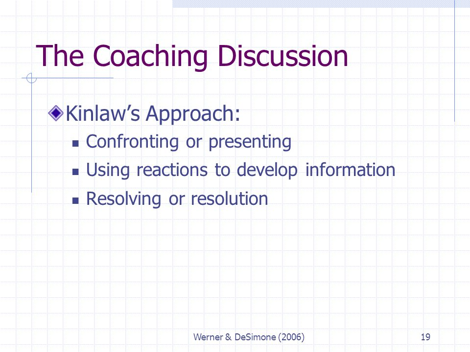 The Coaching Discussion