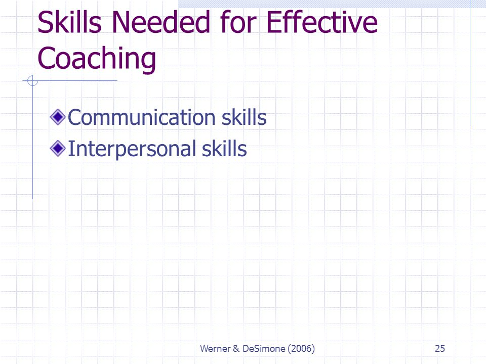 Skills Needed for Effective Coaching
