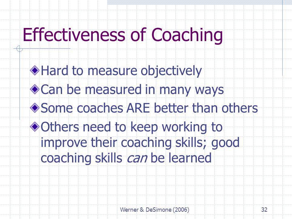 Effectiveness of Coaching