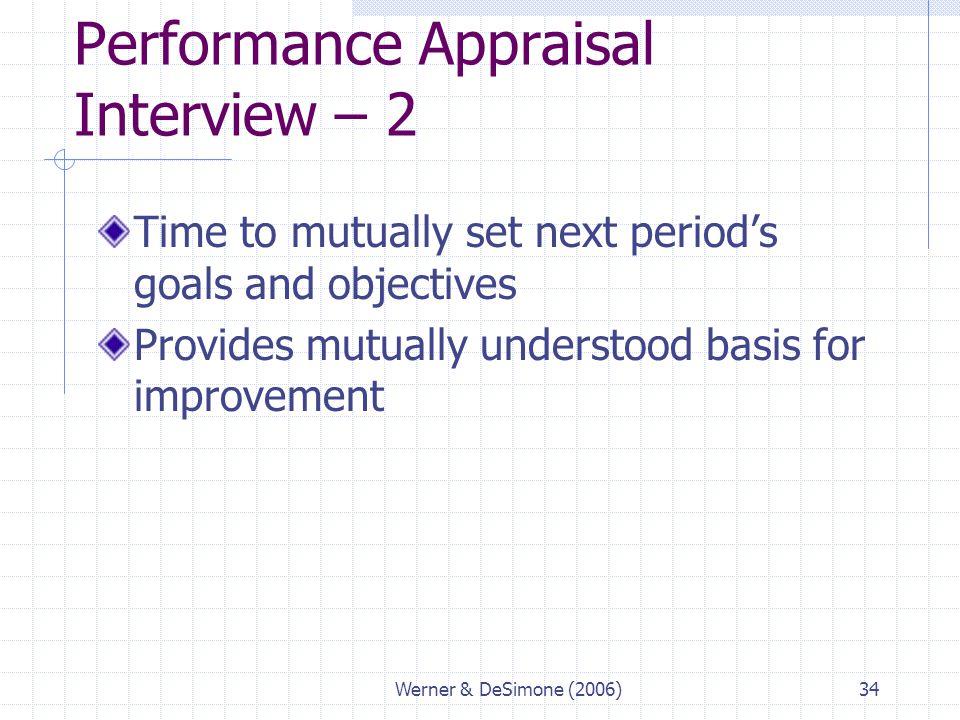 Performance Appraisal Interview – 2