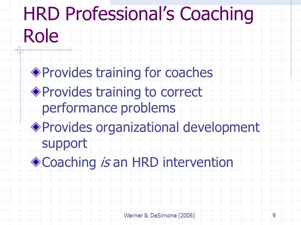 HRD Professional's Coaching Role