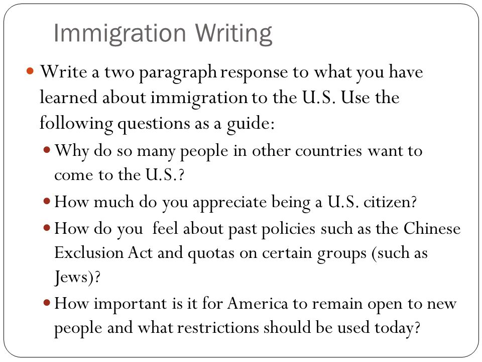 writing a new dissertation regarding immigration system