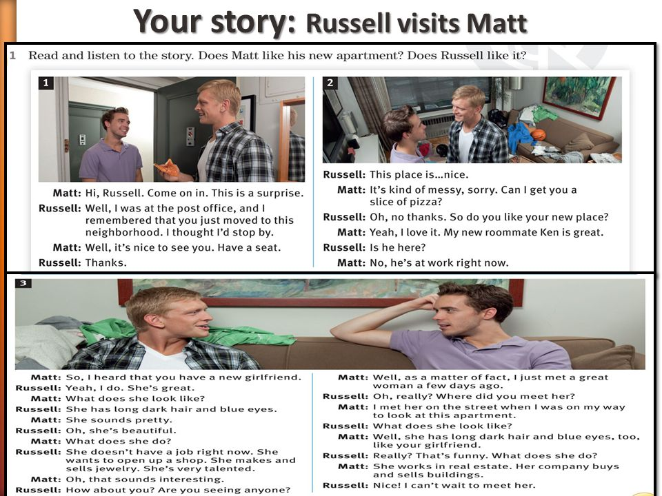 Your story: Russell visits Matt