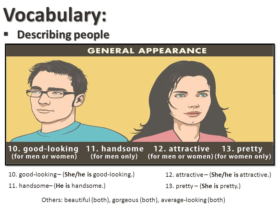 Vocabulary: Describing people