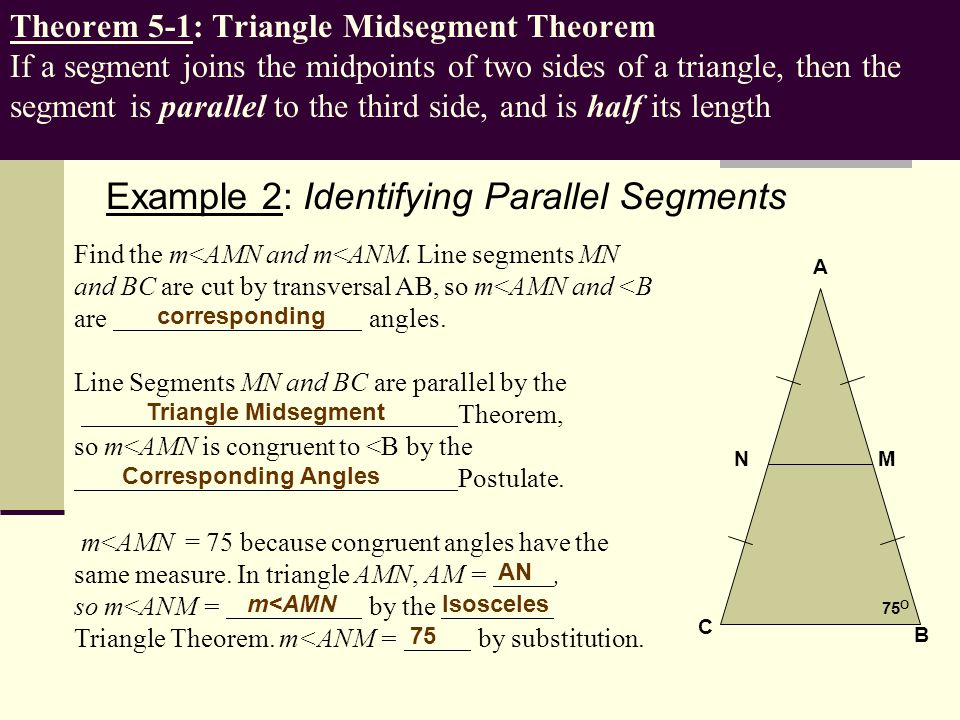 Example 2: Identifying Parallel Segments