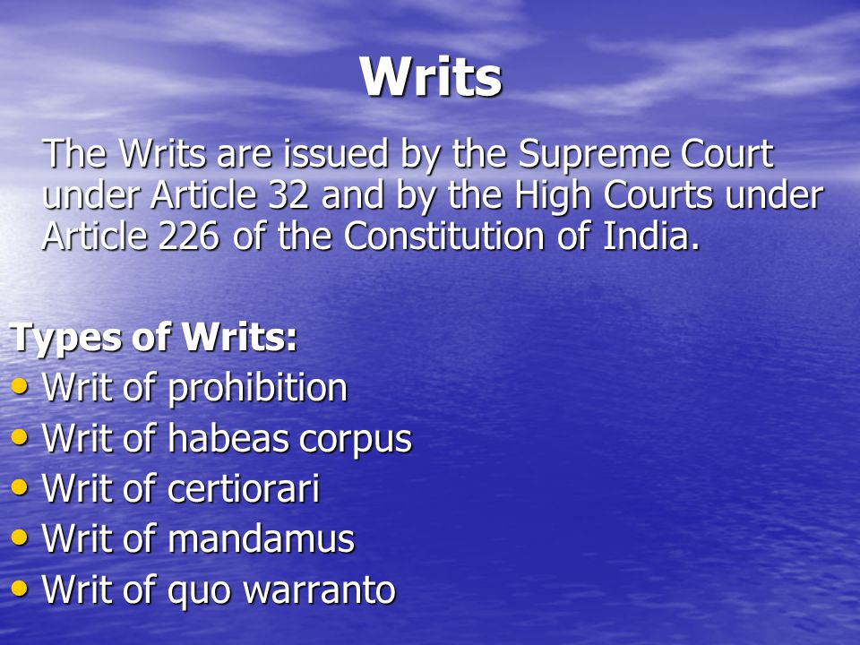 quo warranto under indian constitution This is the general knowledge questions and answers with discussion section on indian  under article 226 of the constitution  quo-warranto-a writ.
