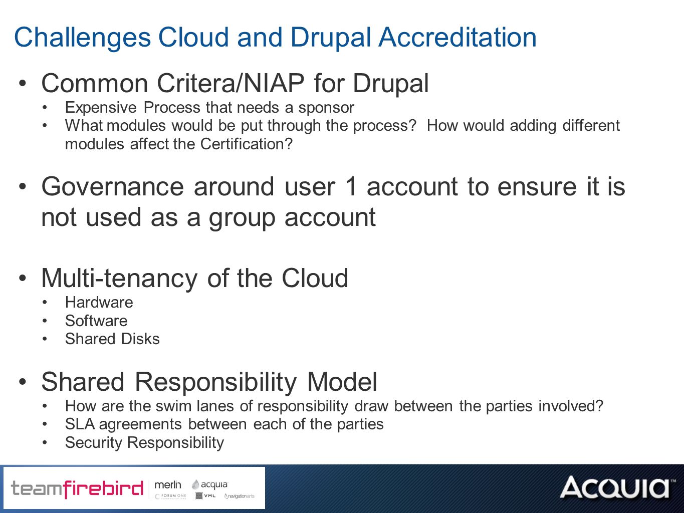 Building and securing government drupal sites in the cloud ppt challenges cloud and drupal accreditation xflitez Gallery
