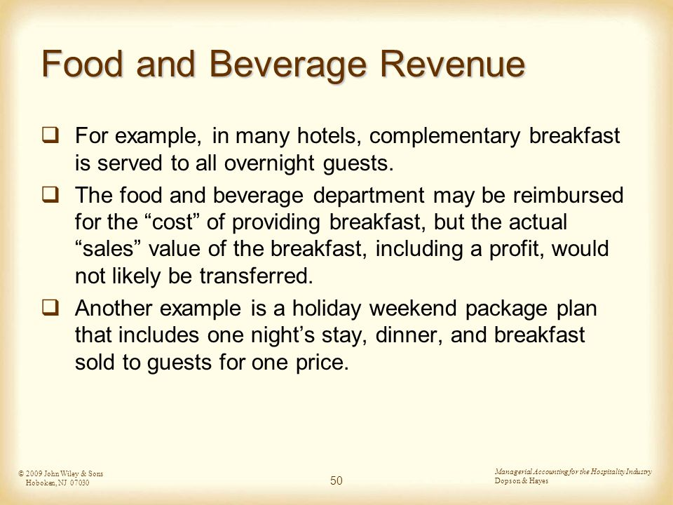 food and beverage department in hotel pdf