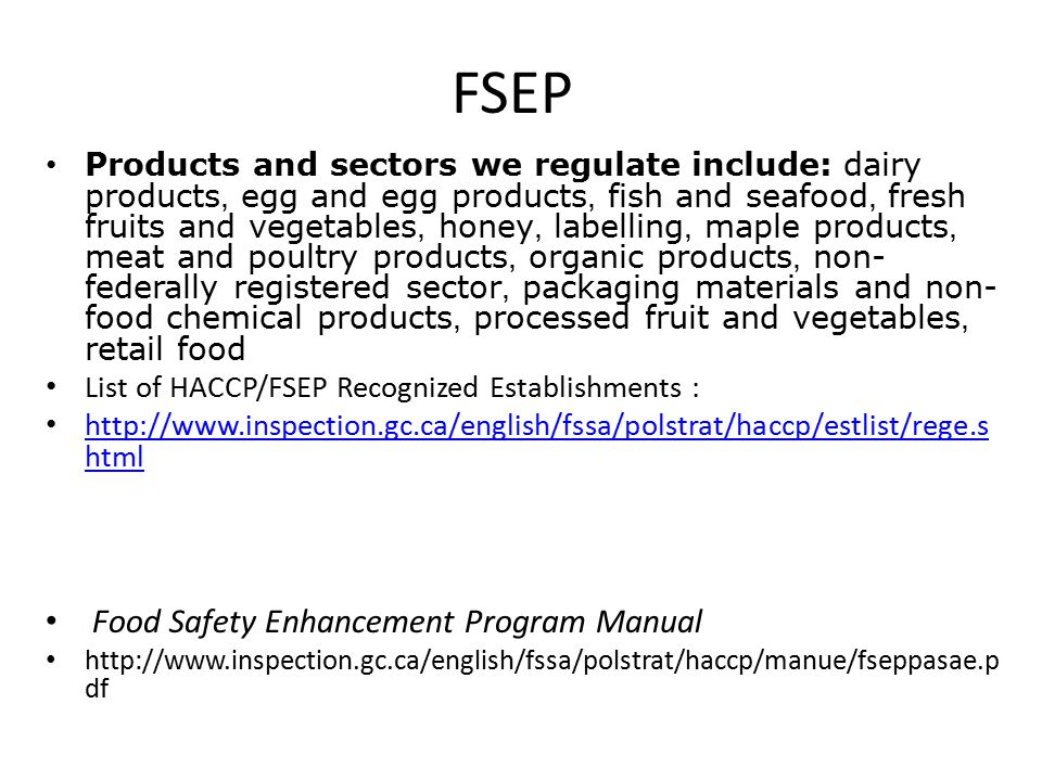 haccp food safety manual pdf