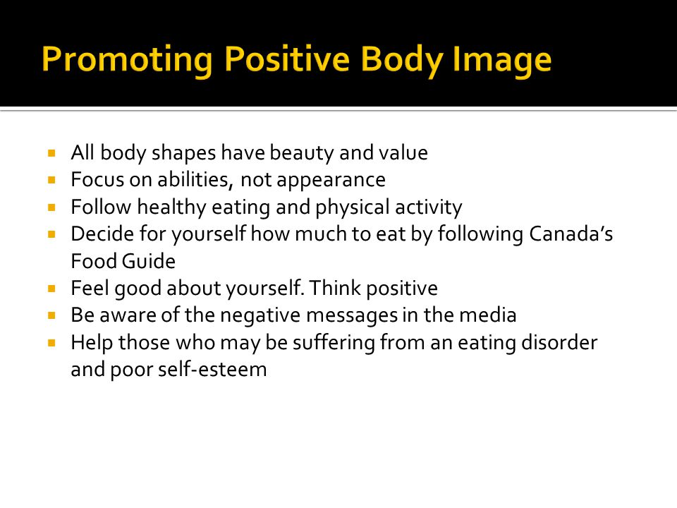 Nutrition: Body Image. - ppt download