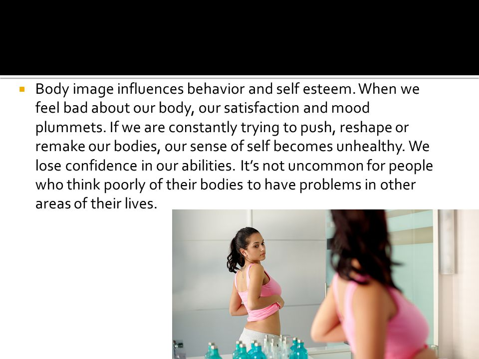 body image vs self esteem Body image 2 introduction puberty is a period of major transition in forming a positive attitude towards one's body image and self esteem among adolescents.