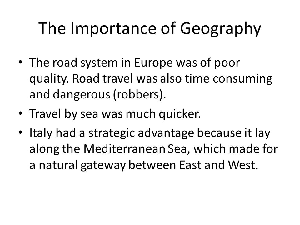 the importance of geography The importance of modern technology in learning the new geographical  developments ahmed jehd, the ministry of education- department.