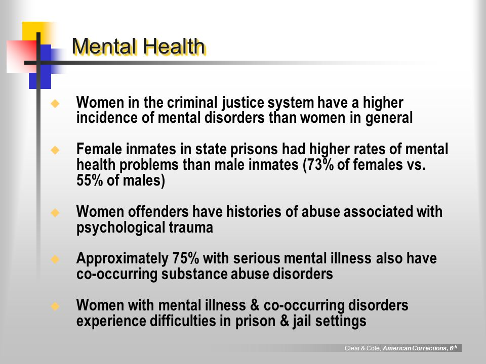 drug abuse mental family and criminal National institute on drug abuse,  you may contact the substance abuse and mental health services  local program a model for massachusetts criminal justice.