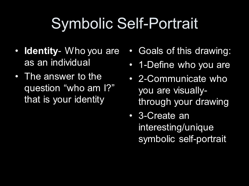 Self Portrait Definition A Portrait Of Your Self Duh Ppt Video
