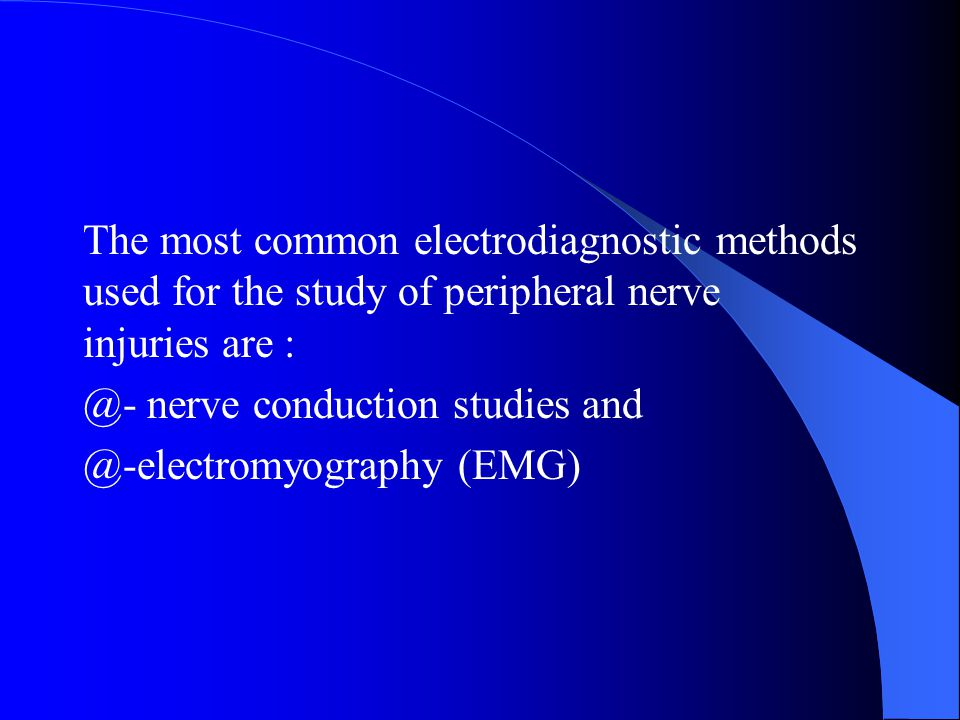 The most common electrodiagnostic methods used for the study of peripheral nerve injuries are :