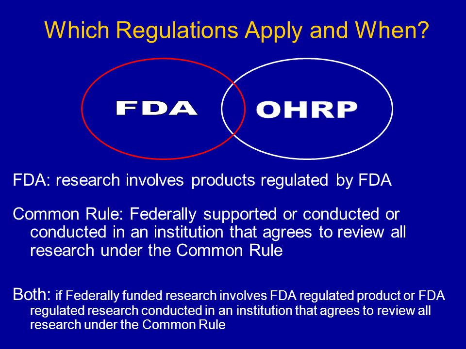 Which Regulations Apply and When