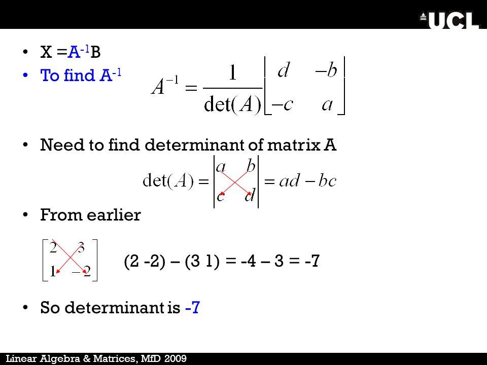 how to solve 4x4 matrix determinant