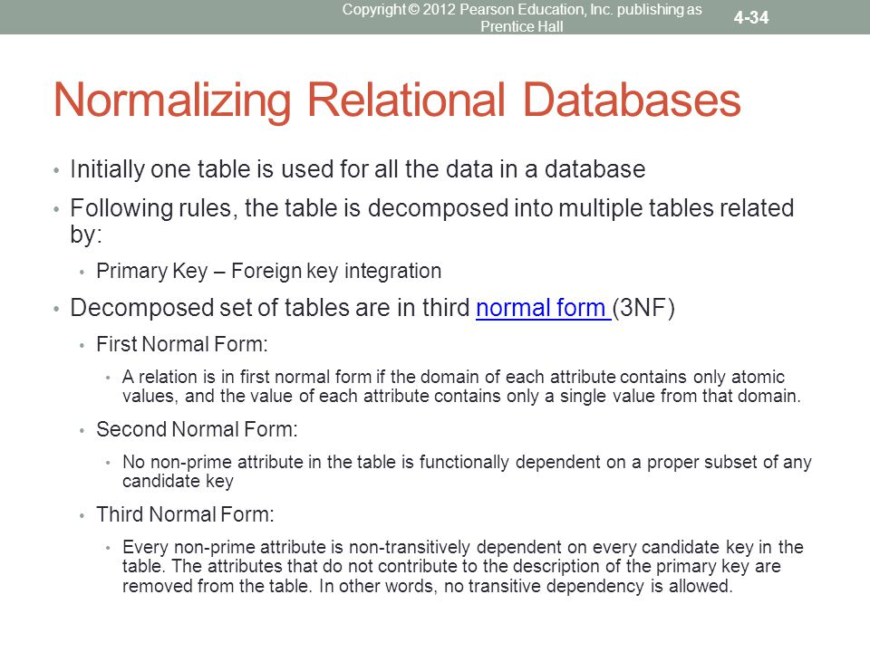 Chapter 4 Relational Databases. - ppt video online download