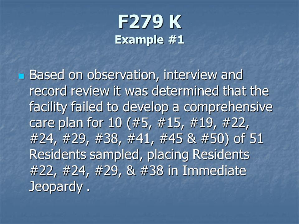 F279 K Example #1
