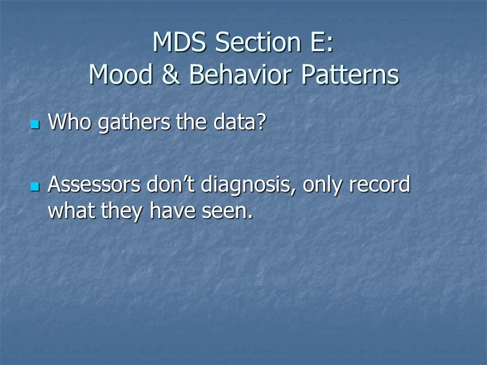 MDS Section E: Mood & Behavior Patterns