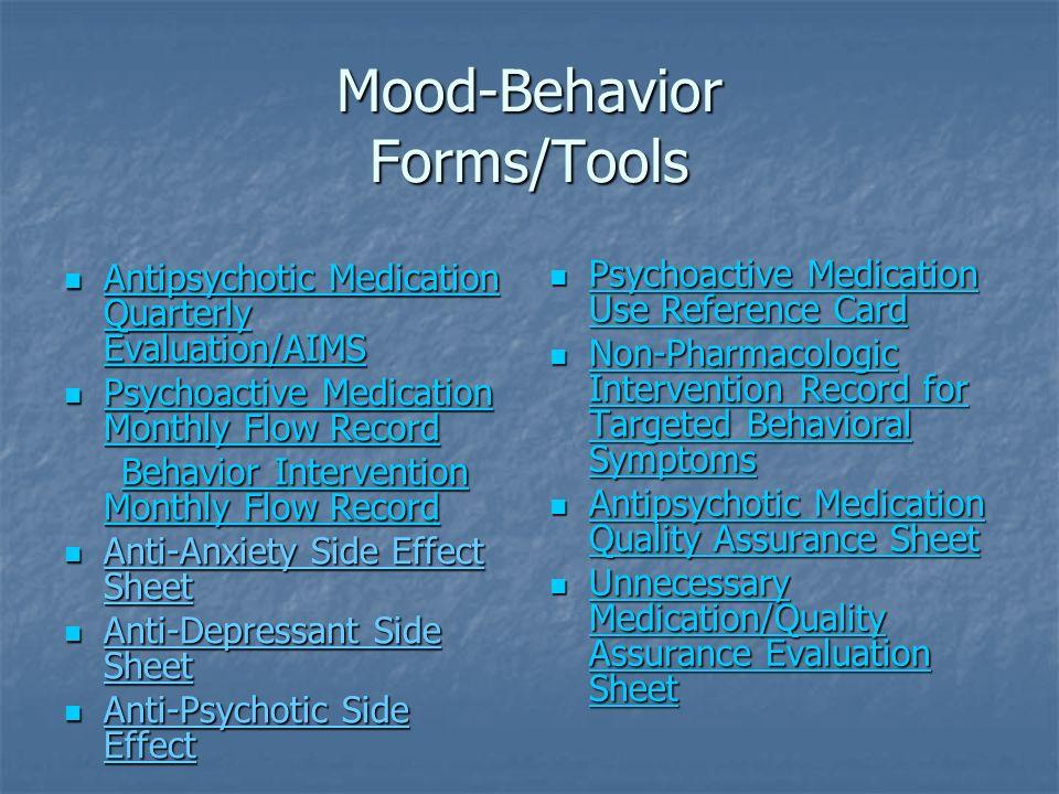 Mood-Behavior Forms/Tools