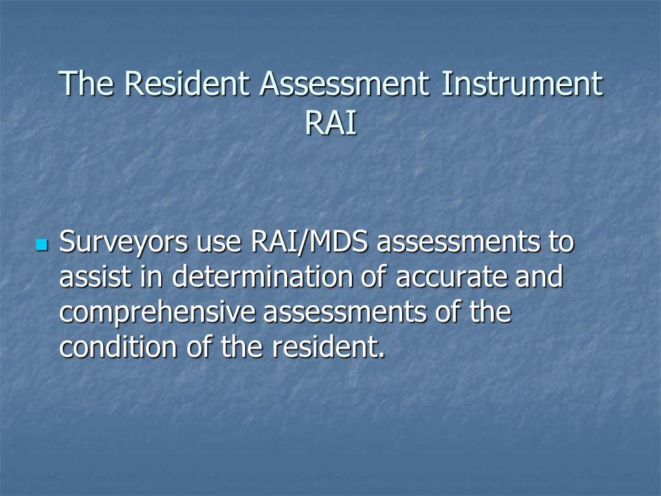 The Resident Assessment Instrument RAI