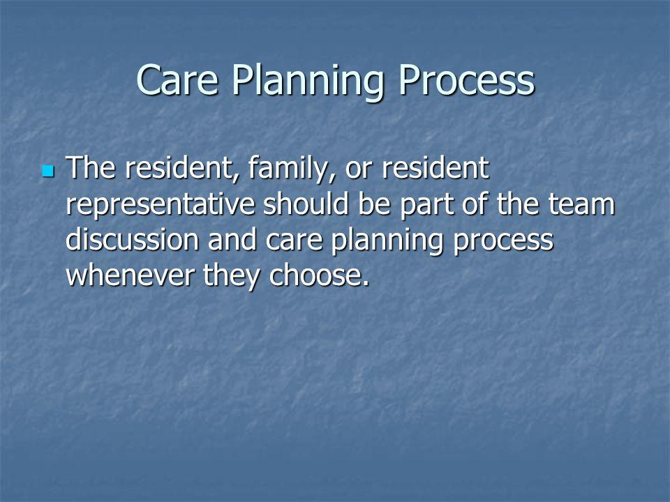 Care Planning Process