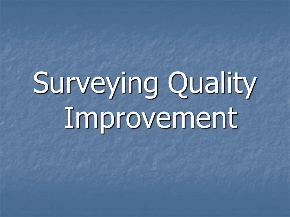 Surveying Quality Improvement