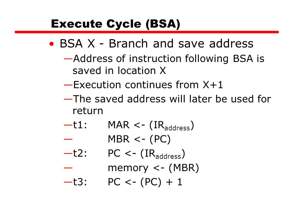 BSA X - Branch and save address