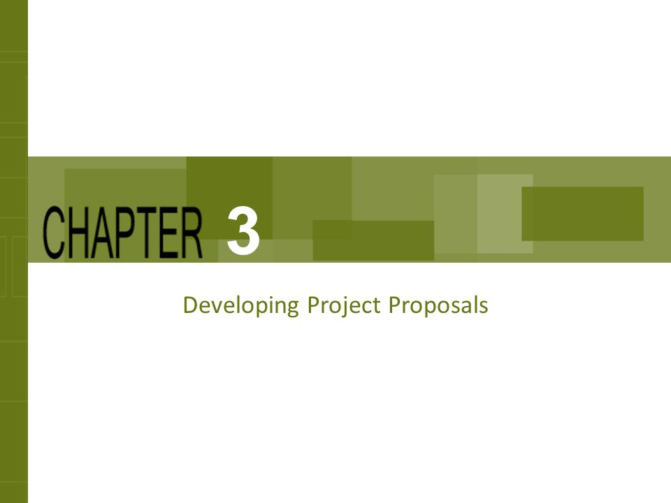 Developing Project Proposals - Ppt Download