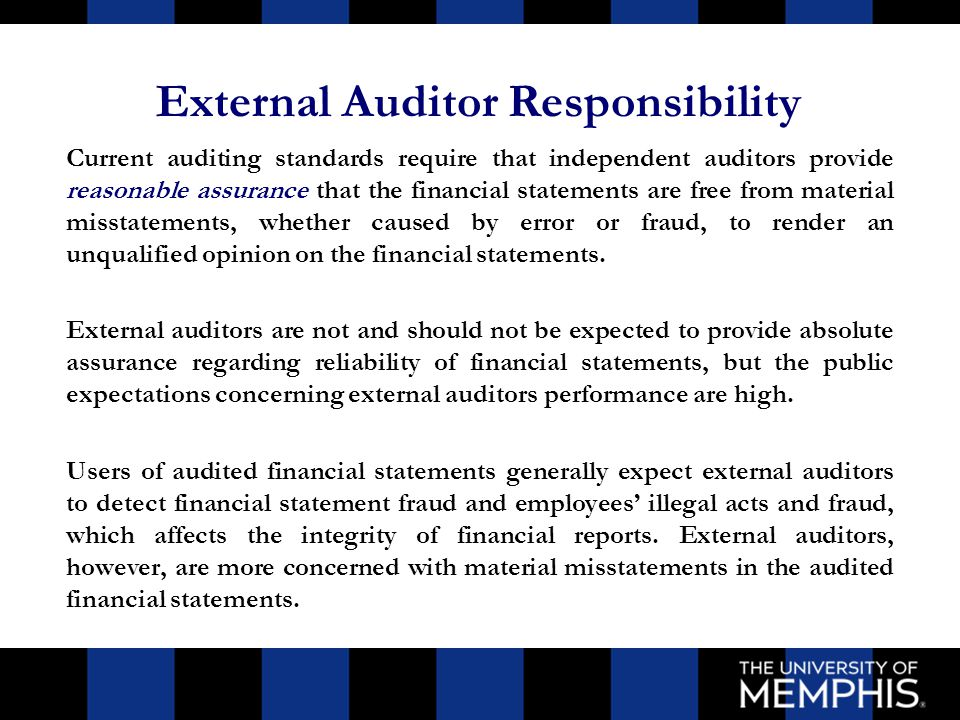 External Auditors' Roles And Responsibilities - Ppt Video Online