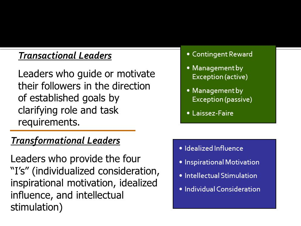 Transactional Leaders