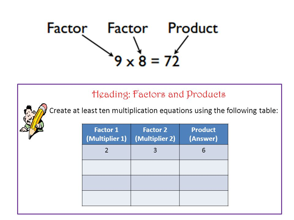 What are some of the ways you that that we can categorise for Factor table of 99