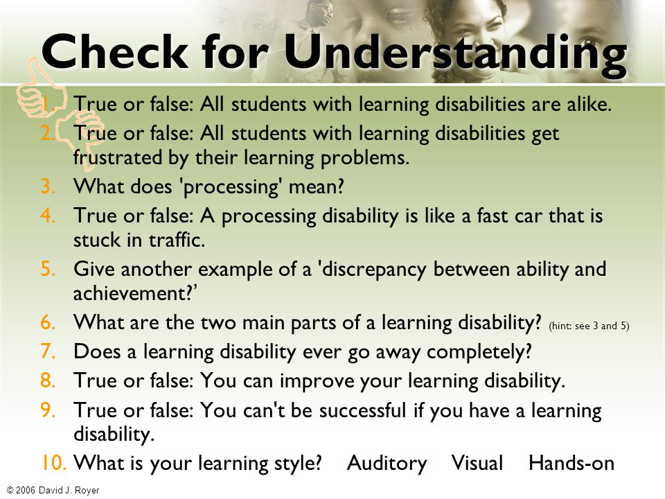 what is a true learning disability What is intellectual disability intellectual disability is a disability characterized by significant limitations both in intellectual functioning (reasoning, learning, problem solving) and in adaptive behavior, which covers a range of everyday social and practical skillsthis disability originates before the age of 18.
