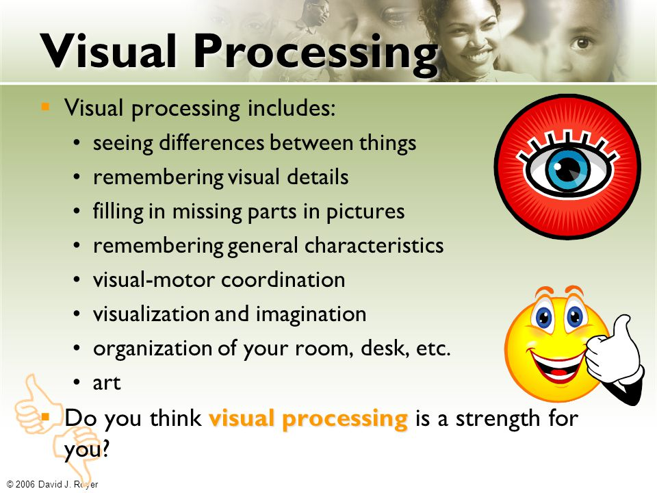 Vocabulary ability what you can do ppt download for Visual motor processing disorder