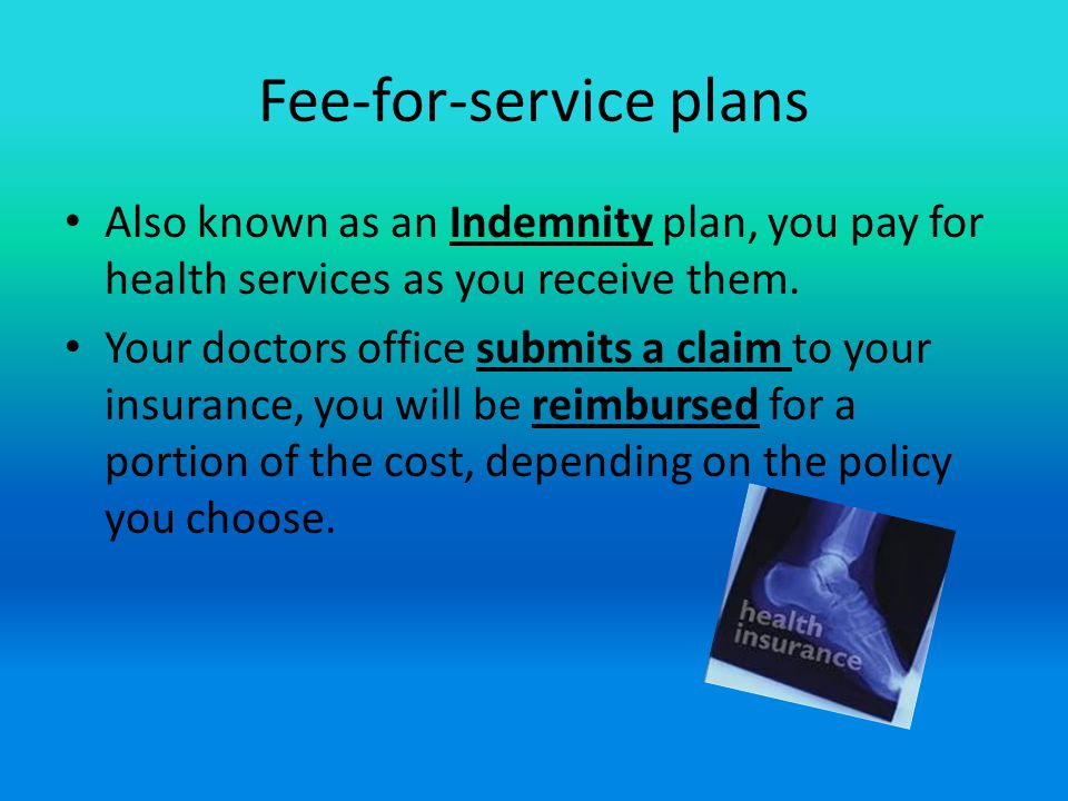 Fee-for-service plans