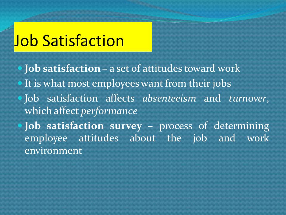 Job satisfaction research