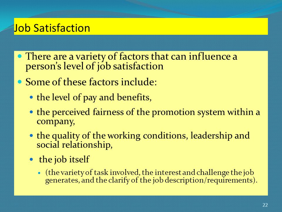 job satisfaction within a danish promotion This downward trend in job satisfaction raises concerns about the overall engagement of us employees and ultimately employee productivity, retention, creativity, risk-taking, mentoring, and overall employee motivation and interest in work.