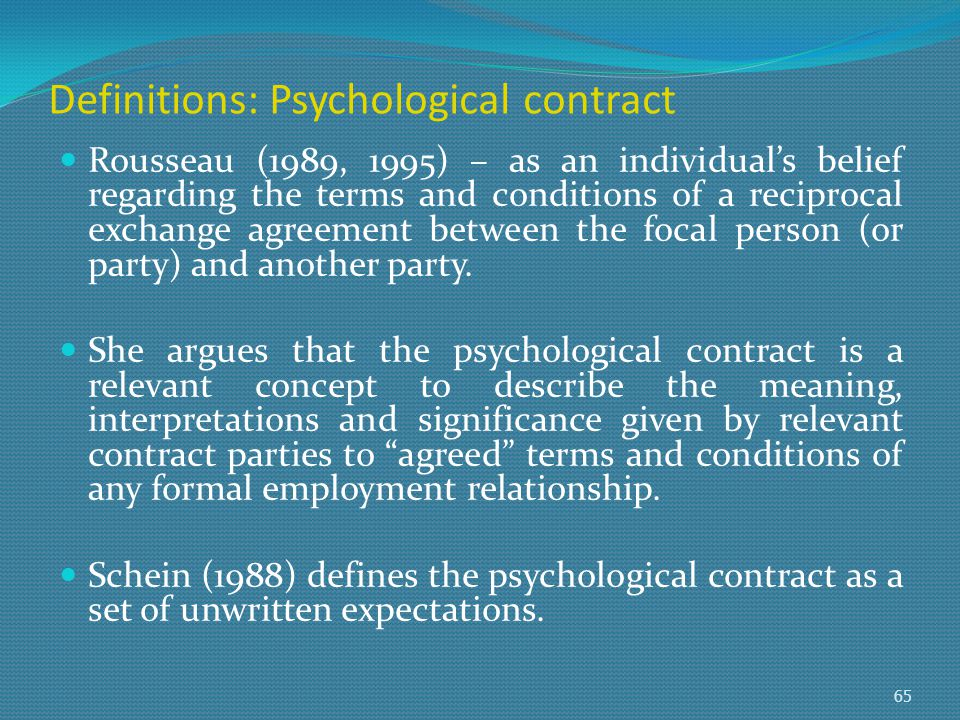 psychological contract and employment relationship Strategies for developing the employment relationship strategies for developing the employment relationship  psychological contract.
